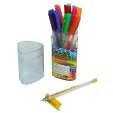 12 PCS Gel Ink Pen with Fluorescent Color in a PP Box